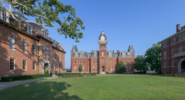 Woodburn Circle on University Avenue on the campus of West Virginia University